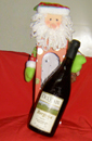 BOTTLE OF WINE  IN A CHRISTMAS BOX